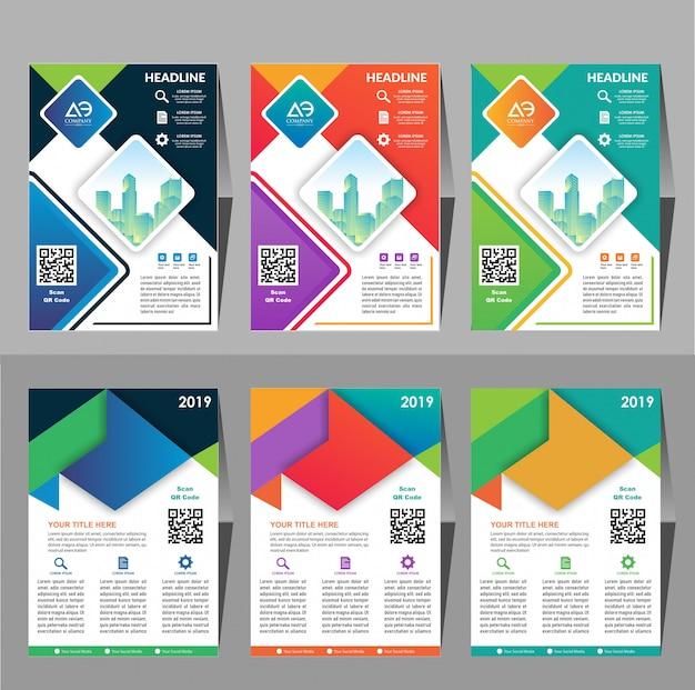 Leaflet cover presentatie abstracte geometrische achtergrond