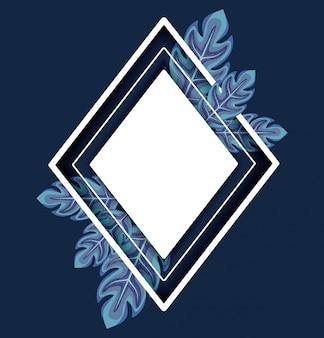 Leafs planten decoratief frame