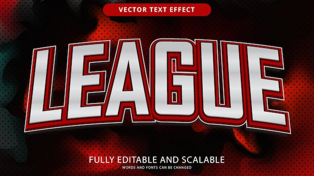 League teksteffect bewerkbaar eps-bestand
