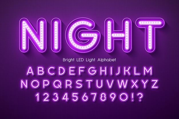 Led licht alfabet