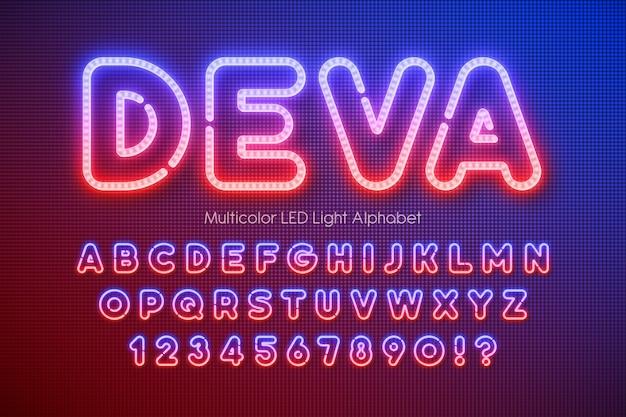 Led-licht extra gloeiend alfabet