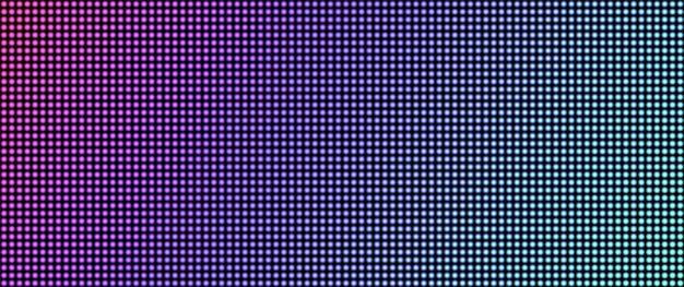 Led scherm textuur. pixel tv-achtergrond. lcd digitale monitor. vector illustratie.