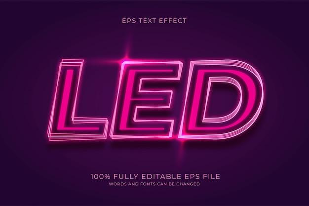 Led-teksteffect