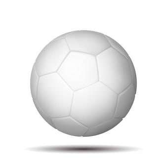 Lederen witte voetbal. voetbal op witte achtergrond