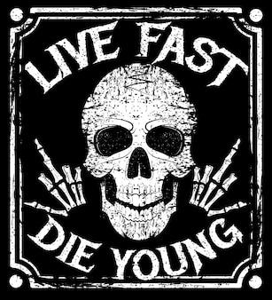 Leef snel die jonge grunge