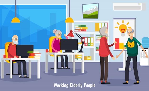 Leeftijd ouderen orthogonale concept