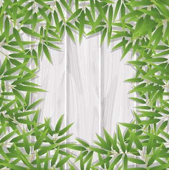 Leeg bamboe bladframe