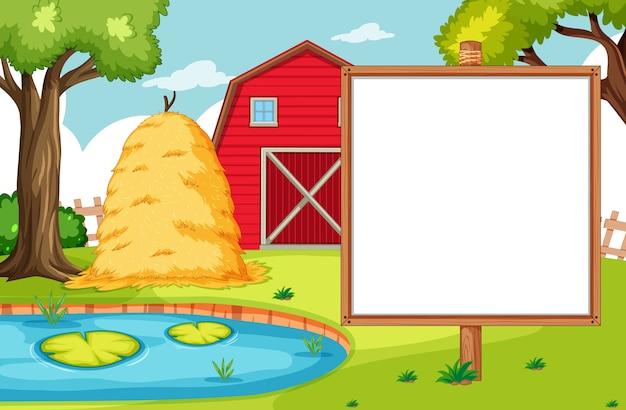 Leeg bannerkaart in nuture boerderijlandschap