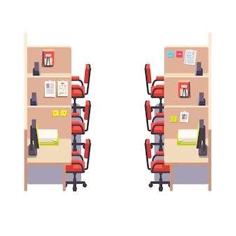 Leeg bedrijfscabine kantoor werkruimte interieur