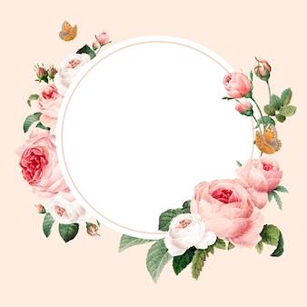Leeg bloemen rond frame