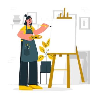 Leeg canvas concept illustratie