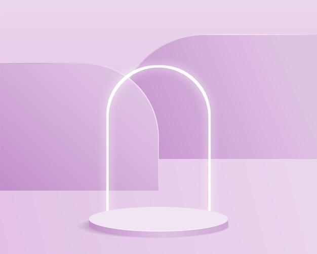 Leeg cilinderpodium. ontwerp voor productpresentatie.