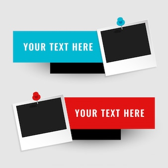 Leeg fotokader met tekstruimte