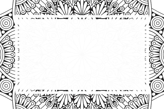 Leeg frame achtergrond met tribal etnische stijl