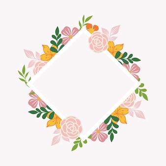 Leeg frame met bloemmotief
