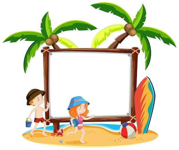 Leeg frame met zomerthema