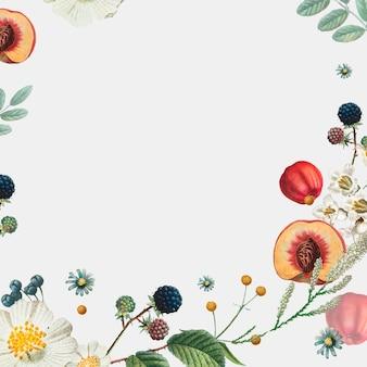 Leeg frame op lente botanische achtergrond