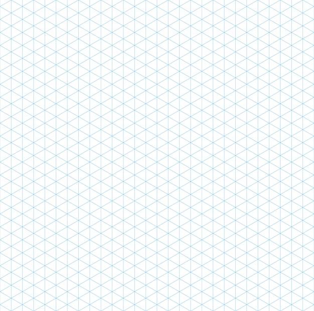 Leeg isometrisch raster naadloos patroon