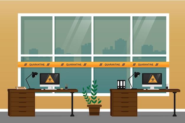 Leeg kantoor wegens pandemie