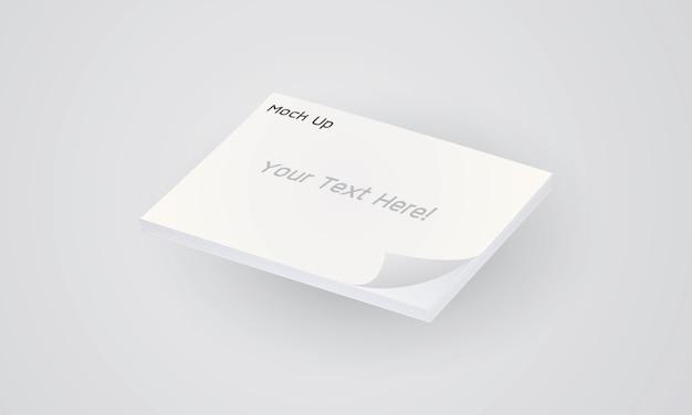 Leeg leeg notitieboekje op een grijze achtergrond