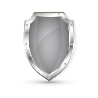 Leeg metalen schild, beschermingsschild