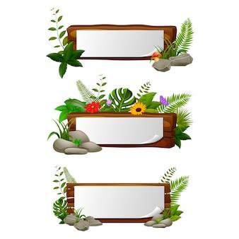 Leeg papier leeg op houten bord