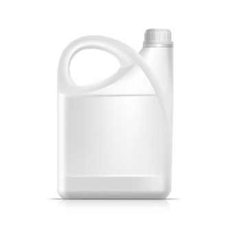 Leeg plastic jerrycan-bus gallon oil cleanser detergent abstergent isolated