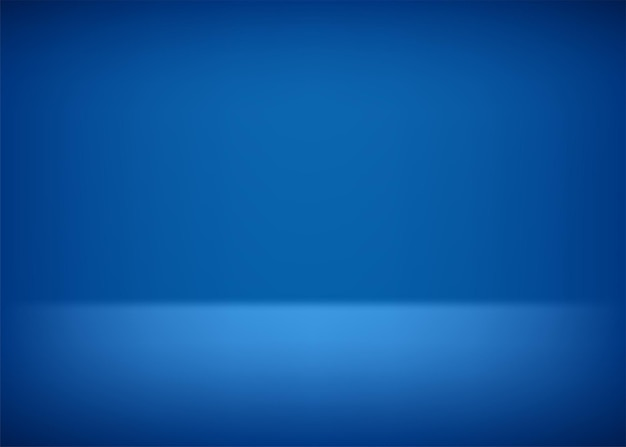 Leeg podium. blauwe achtergrond voor presentatie. vector illustratie.