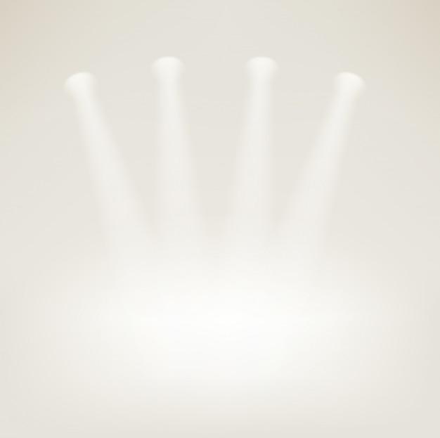 Leeg podium met heldere projectoren