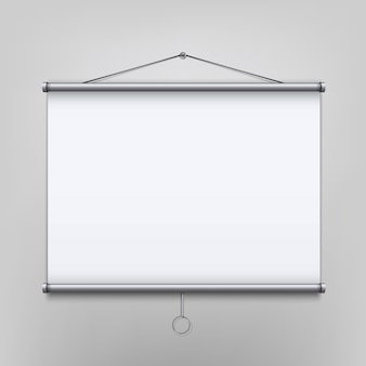 Leeg projectiescherm van vergadering