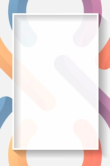 Leeg rechthoek kleurrijk abstract frame