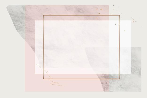 Leeg rechthoekig frameontwerp