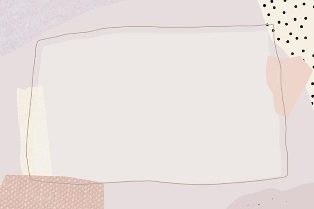 Leeg rechthoekig paars frameontwerp