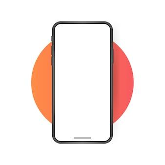 Leeg scherm van smartphone, telefoonmodel.