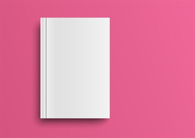 Leeg tijdschrift, album of boeksjabloon op moderne achtergrond. geïsoleerde object voor ontwerp en branding. illustratie