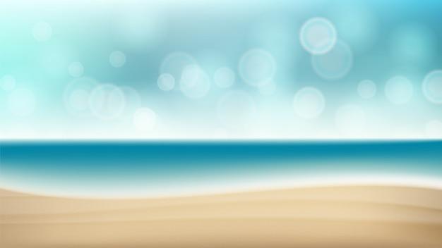 Leeg tropisch strandzeegezicht tropisch