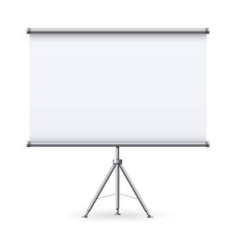 Leeg vergaderingprojectorscherm, presentatie.