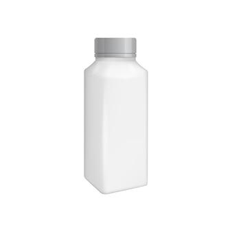Leeg verpakkingsmalplaatje dat op wit wordt geïsoleerd.