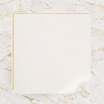 Leeg vierkant gouden frame