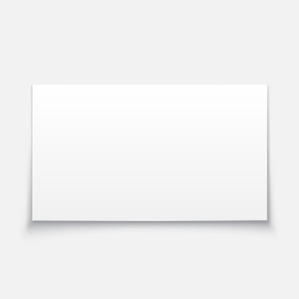 Leeg wit bord illustratie.