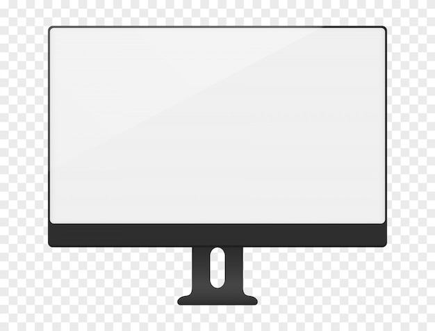 Leeg wit computerscherm
