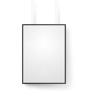 Leeg wit frame op het muur vectormodel. illustratie geïsoleerd op wit. klaar voor een inhoud