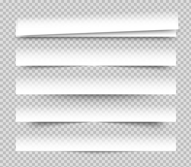 Leeg wit met schaduwpapier blurb set
