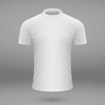 Leeg wit t-shirt sjabloon