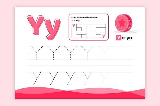 Leer letter y-werkblad