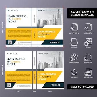 Leer zaken voor creatieve mensen boek voorbladsjabloon