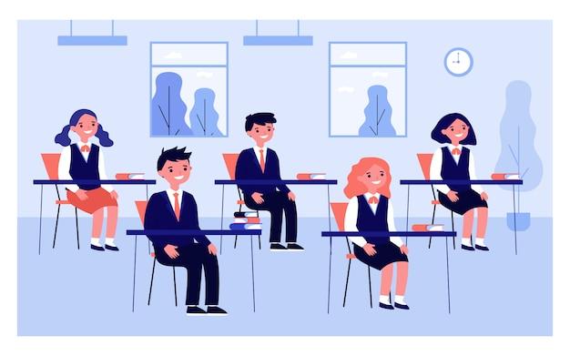 Leerlingen studeren in de klas
