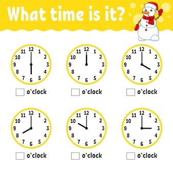 Leertijd op de klok.