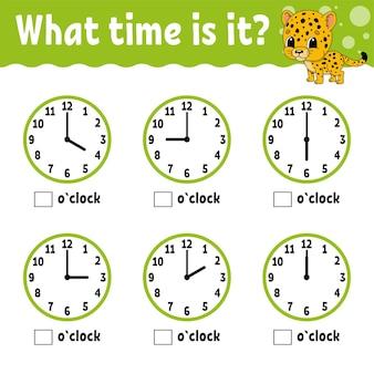 Leertijd op de klok