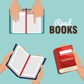 Lees boeken ontwerp